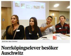 Folkbladet uppmärksammar SKMA:s utbildningsprojekt (skärmbild).
