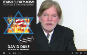 Skärmklipp från den video med nazisten David Duke som spreds av C-politiker.