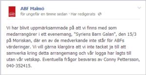 ABF Malmös Facebooksida