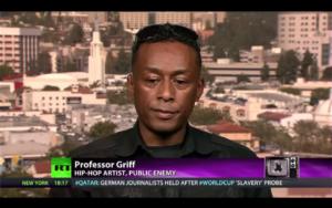 """Professor Griff"" intervjuas i Russia Today."