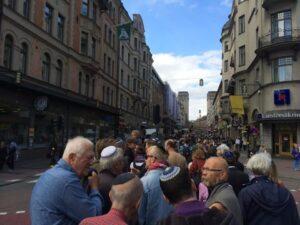 Kippavandring i Stockholm. Foto: David Leman.