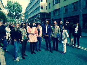 Deltagare i kippavandringen i Stockholm 31/8 2014