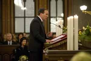 Statsminister Stefan Löfven i Stockholms stora synagoga 27/1 2015. Foto: Martina Huber, Regeringskansliet