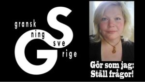"""SD-politikern Nina Drakfors är """"reporter"""" på YouTube-kanalen Granskning Sverige."""