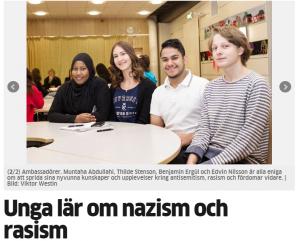 Norrköpings Tidningar uppmärksammade SKMA:s utbildningsprojekt.