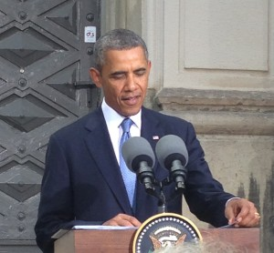 USA:s president Obama vid stora synagogan i Stockholm. Foto: Ingrid Lomfors