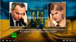 Skärmavbild från RT: Shufrych återger ett samtal där någon för honom beskrivit ryssarna som utstötta.