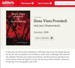 Sions vises protokoll säljs av Adlibris