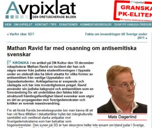 Skärmbild på Avpixlat den 19/12 2012.
