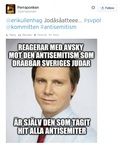 Främlingsfientliga och antimuslimska budskap sprids t ex via Twitter.