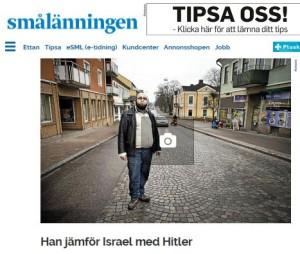 Smålänningen - Ljungby - Lahouaichri - Israel är Hitler, judarna styr världen