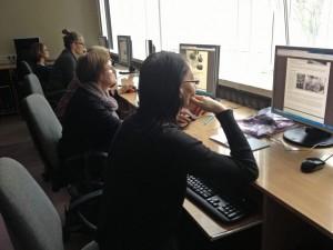 """Pedagoger i Lodz testar SKMA:s lärplattform """"Vad är en människa?"""" Foto: Ewa Wymark"""
