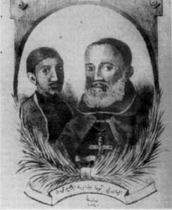 Bild på fader Tommaso och hans tjänare från tiden för Damaskusaffären. Wikimedia Commons.