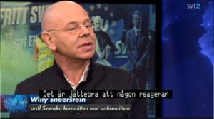 Willy Silberstein i SVT:s Aktuellt 2 maj 2014.