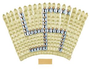 Illustration över publik som formar ett hakkors