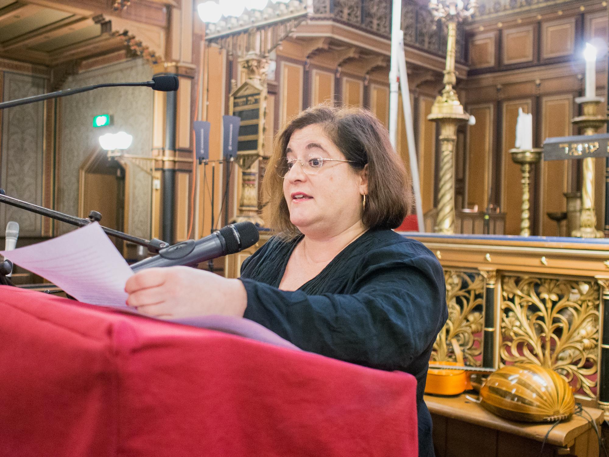 Minnesceremoni för novemberpogromen samt utdelning av Elsa-priset till Samuel Nudel.