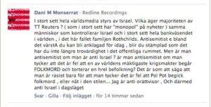Dani M:s kommentar i Aftonbladet