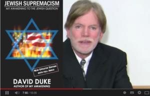 Skärmklipp från den video med nazisten David Duke som spreds av C-politiker.