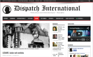 SKMA angrips i den antimuslimska publikationen Dispatch International (skärmbild).
