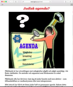 Propaganda på Jan Millds blogg (skärmavbild).