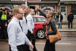 Antinazistisk protest. Foto: David Lagerlöf, Expo.