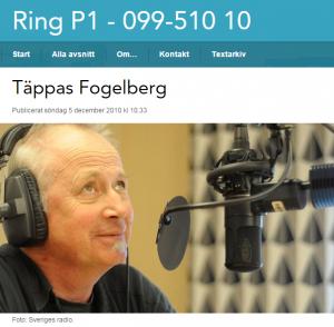 """Täppas Fogelberg är programledare för Sveriges Radios """"Ring P1"""""""